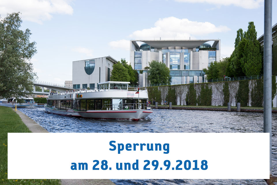 Sperrung der Spree
